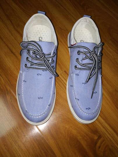 卡帝乐鳄鱼CARTELO低帮透气帆布鞋2017新款男士韩版系带休闲男鞋 灰色 40 晒单图