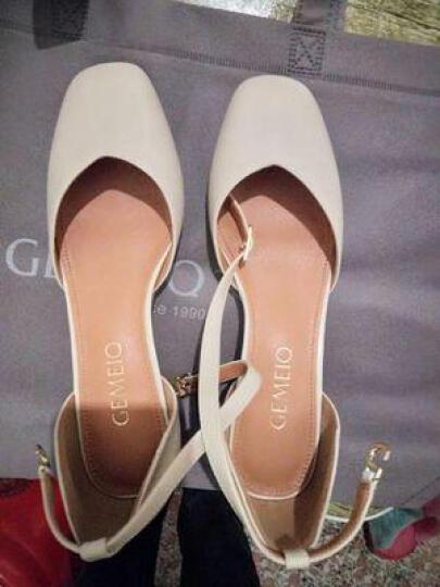 戈美其单鞋女粗跟女鞋中跟玛丽珍妈妈工作鞋子 粉杏 色 35 晒单图