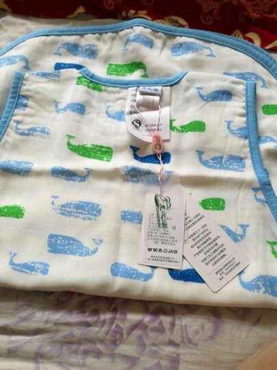 龙之涵 婴儿睡袋 夏季纯棉薄款纱布背心蘑菇式分腿睡袋  空调房中大童防踢被儿童睡袋 2层-背心款-水族精灵 120码 晒单图