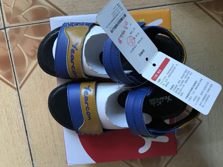 意尔康凉鞋 2017夏季新款男童鞋简约软底宝宝鞋沙滩鞋休闲童鞋 黑色 26 晒单图