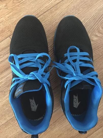 美克MEIKE跑步鞋飞织透气男士运动鞋刀锋战士底轻便透气休闲男鞋 黑蓝8022 43 晒单图