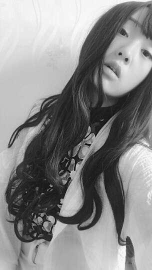爱薇瑞 假发女头套女长卷发空气刘海长发中分蓬松自然大头皮假发 亚麻白金 晒单图