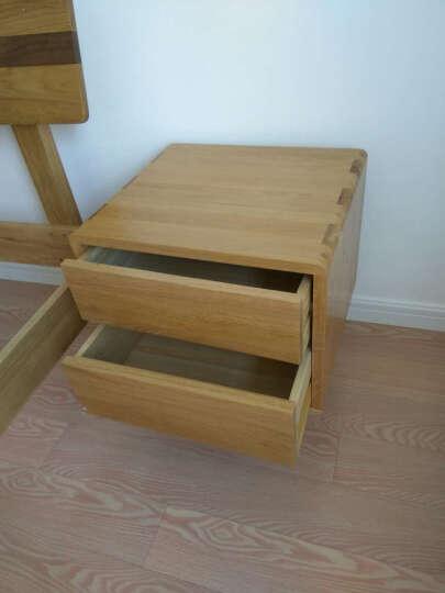 华谊(HUAYI)床头柜 实木床头柜 橡木床头柜CR504 晒单图