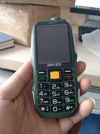 金圣达(GRSED) 6800 三防手机 老人手机 老年手机 移动/联通2G 双卡双待 橄榄绿 晒单图
