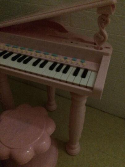 育儿宝(Yu Er Bao) 儿童电子琴钢琴3-6岁带麦克风男女孩宝宝多功能迷你音乐玩具 彩盒耳机版粉(琴贴+乐谱) 晒单图