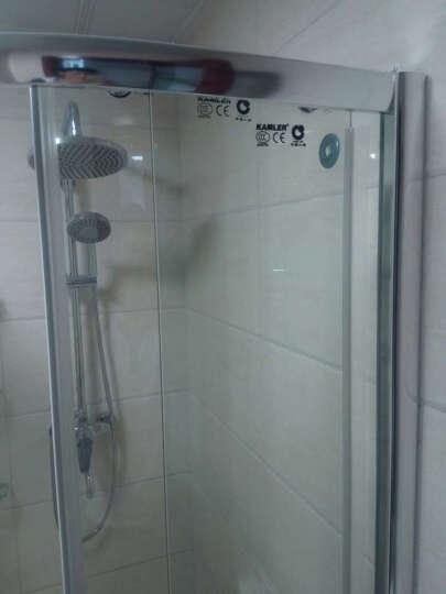 卡姆勒(KAMLER) 卡姆勒淋浴房整体浴室移门钢化玻璃沐浴房隔断屏风弧扇形浴房定制 6mm 右 90cm*90cm含石基 晒单图