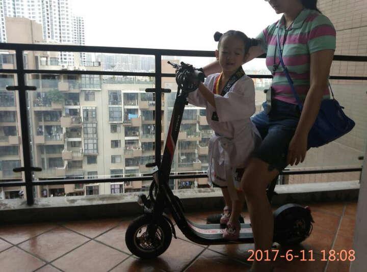 百酷 电动滑板车锂电池成人折叠电动车自行车时尚电瓶车代步车 富贵白36V400瓦55公里(无坐垫) 晒单图