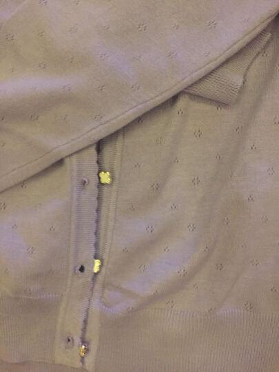 鸿彩鸟 2017新款春装针织衫女士开衫空调衫外套薄款长袖外搭夏季短款女款中长款毛衣夏装韩版 浅紫色 均码 晒单图