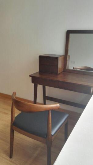 【特卖】木匠生活 梳妆台 实木梳妆台美式 简约梳妆柜化妆台 胡桃色 妆台(带柜) 晒单图