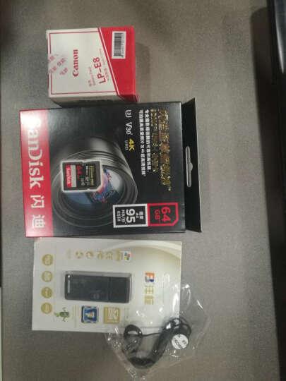 佳能(Canon)LP-E8原装电池 适用单反相机EOS 700D、600D、650D、550D E8电池+闪迪64G 170MB/s SD卡 晒单图