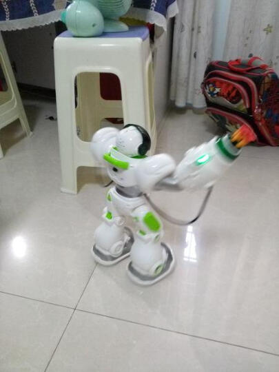 盈佳新威尔机械战警智能机器人玩具儿童3-6-12岁早教学习机语音对话教育机器人 大型X警(黑色) 晒单图