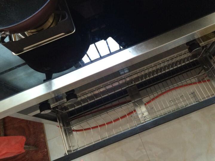 欧诚自动翻盖集成灶一体灶具自动清洗家用侧吸下排式抽油烟机燃气灶具消毒柜套装L6 电磁炉款 大吸力环保灶 晒单图