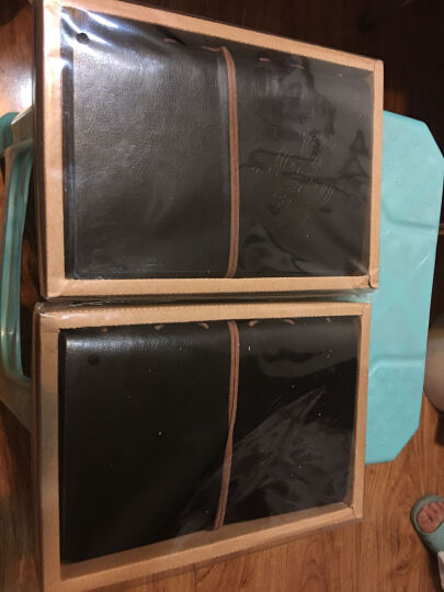 航海日记本子  创意个性复古牛皮纸皮革记事本厚本子  潮流精美旅行笔记本子盒装手账本 黑色 晒单图