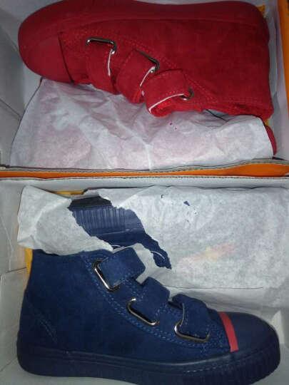 蜡笔小新童鞋新款女童棉鞋高帮魔术贴儿童棉鞋Z-160大红33 晒单图