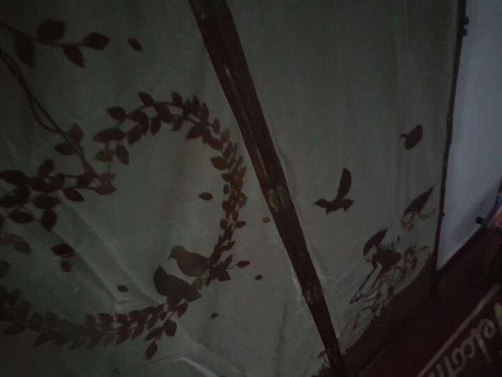 【2包粘扣】防蚊门帘纱窗 免穿磁条门沙刺绣加密磁性软纱门 单车咖啡色 90x210 晒单图