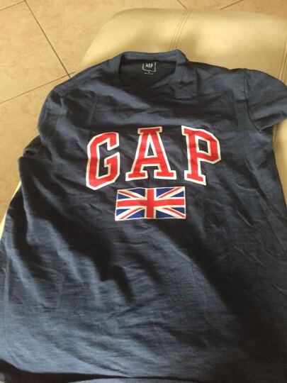 Gap男装 纯棉活力风格旗帜印花短袖T恤639007 复古海军蓝 180/96A(M) 晒单图