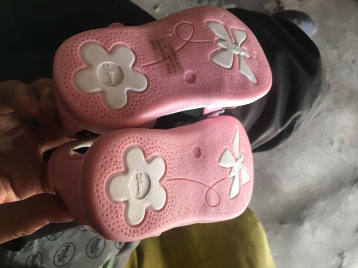 迪士尼夏新宝宝鞋子软底学步凉鞋女童鞋幼儿童公主鞋小孩包头凉鞋 DF0052紫色 150mm/内长155mm 晒单图