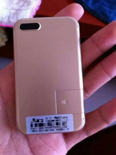 zenus 超薄卡片备用 迷你个性 袖珍学生儿童低辐射手机卡片机手机 便携 反智能 X8金色 晒单图