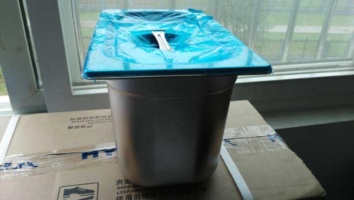 通标正品1/4欧式不锈钢份数盆食物盘冰淇淋调料盒菜盆果酱盒加厚奶茶盆 雪糕盆 26.5x16.2x20cm 晒单图