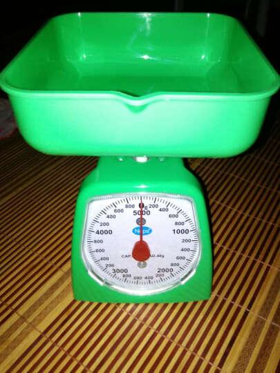 弹簧秤家用机械秤厨房秤面粉秤托盘秤小秤鸡柳秤台秤克度秤圆盘秤 红色2kg 晒单图