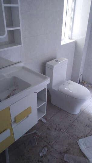 浪鲸浴室柜 实木悬挂BF6121 卫浴吊柜 卫生间洗手盆面盆多功能镜柜 钢琴烤漆套装 浴室柜+花洒+1065马桶300坑距 晒单图