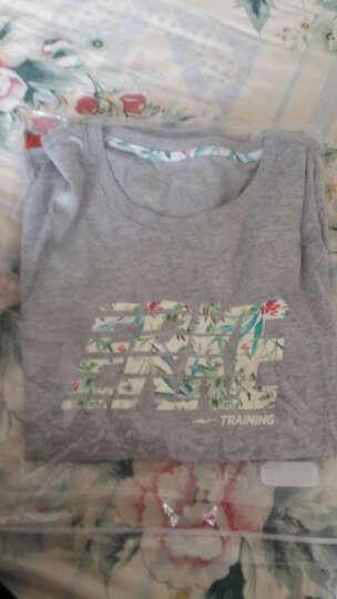 鸿星尔克女款短袖T恤圆领针织短袖T恤百搭运动短袖 正白 L 晒单图