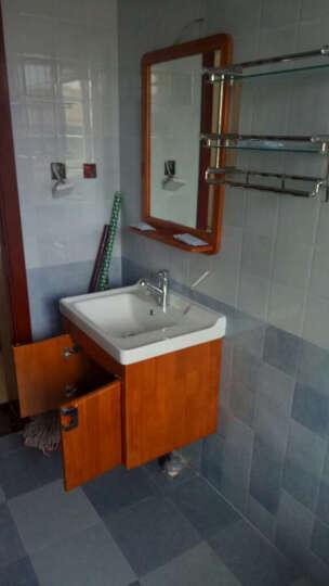 浪鲸卫浴柜 浴室柜(可选)马桶花洒套装 实木橡木 现代简约田园 实木浴室柜BF6110(不含龙头配件) 300MM 如拍套餐需在这选马桶坑距 晒单图