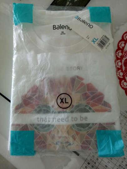 【售罄】Baleno/班尼路 夏季动物印花T恤男 纯棉休闲潮流半袖体恤男装 W95漂白 M 晒单图