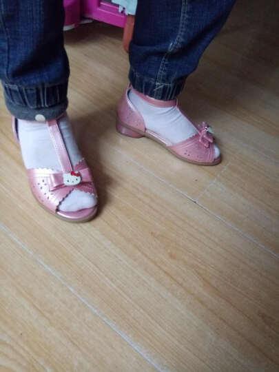鞋柜/HelloKitty女小童卡通甜美鱼嘴小跟小大人公主鞋凉鞋 浅蓝色 29 晒单图