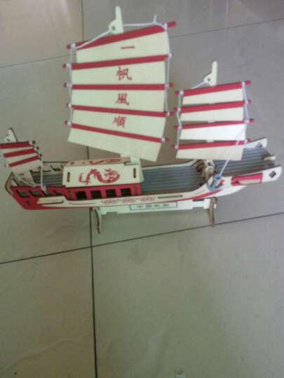 乐绒星 木质立体拼图3D拼装手枪模型木制步枪拼插拆武器玩具儿童积木 IS-2重型坦克 晒单图