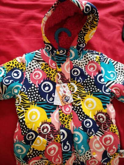 BABiBOO童装儿童棉衣宝宝冬装女童婴儿棉袄男童加厚外套棉服连帽 彩色 120 晒单图