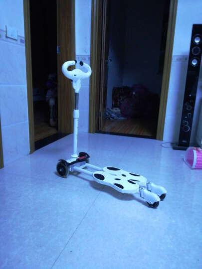 儿童蛙式滑板车四轮闪光摇摆车扭扭车双脚踏板音乐灯光滑行剪刀车 普通款 白色 晒单图