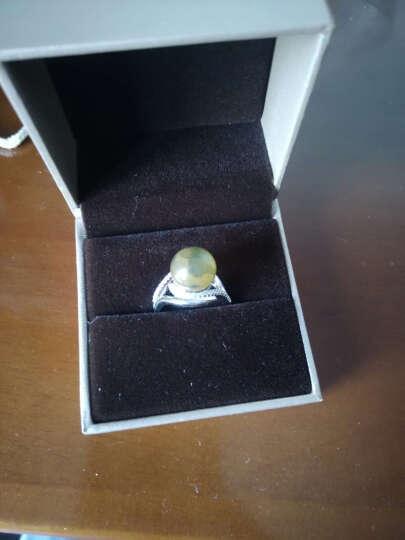 【 墨西哥蓝珀套装】欧采妮 蓝珀吊坠戒指925银镶嵌两件套装女 附证书 蓝珀耳钉 yy02420 晒单图