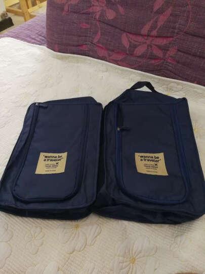 青苇 创意防水鞋袋鞋盒 收纳袋2个装 旅行 深蓝色 晒单图
