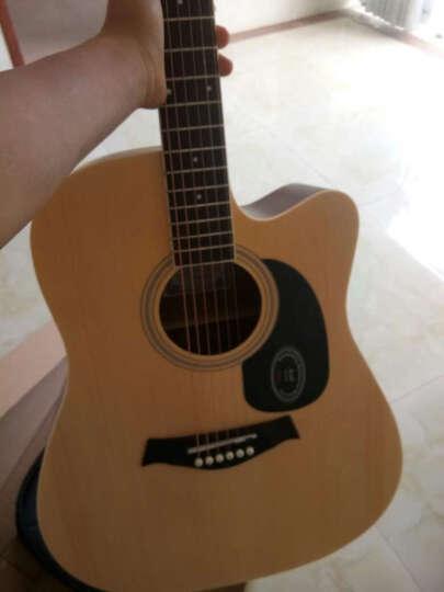 艾薇儿(Avril) 40寸41寸民谣吉他哑光黑色原木色初学者新手入门电箱免费刻字货到付款 41寸原木色 晒单图