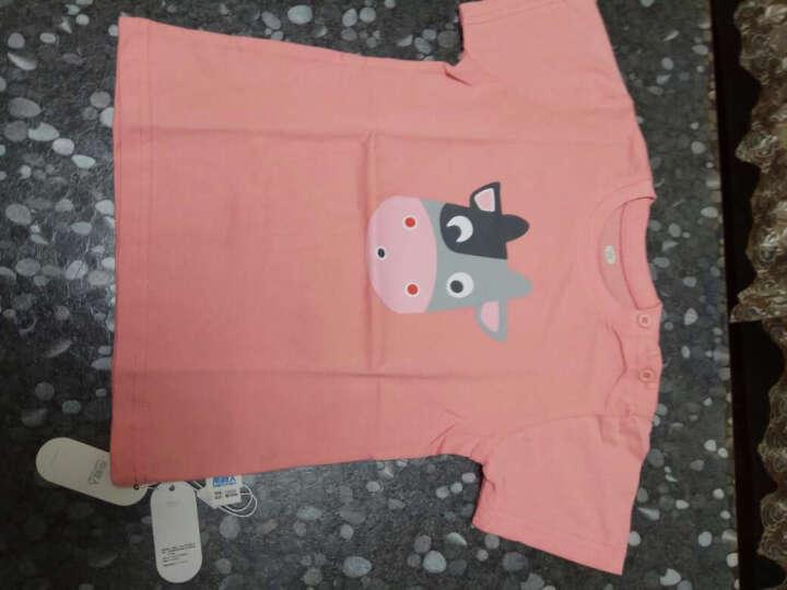 南极人(Nanjiren)2018秋季新款儿童保暖内衣套装宝宝加厚衣服 三角口袋-灰蓝 120CM 晒单图