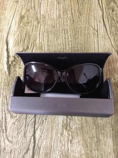 亚热带 偏光太阳镜(可配近视镜)优雅墨镜时尚潮流女款 8842酒红色c4 晒单图