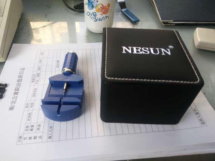 尼尚(Nesun)男士手表 全自动机械手表 时尚多功能夜光防水运动男表 玫金黑面MS9902-KKK 晒单图