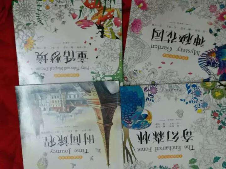 正版 4册神秘花园 时间旅程 奇幻森林 童话梦境色铅笔绘画书手绘涂色书成人减压填色本涂鸦画 晒单图