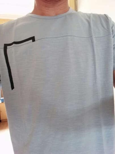 迭戈 短袖T恤男 2018夏季新款 修身青年圆领印花棉体恤潮 卡其色 M/165 晒单图