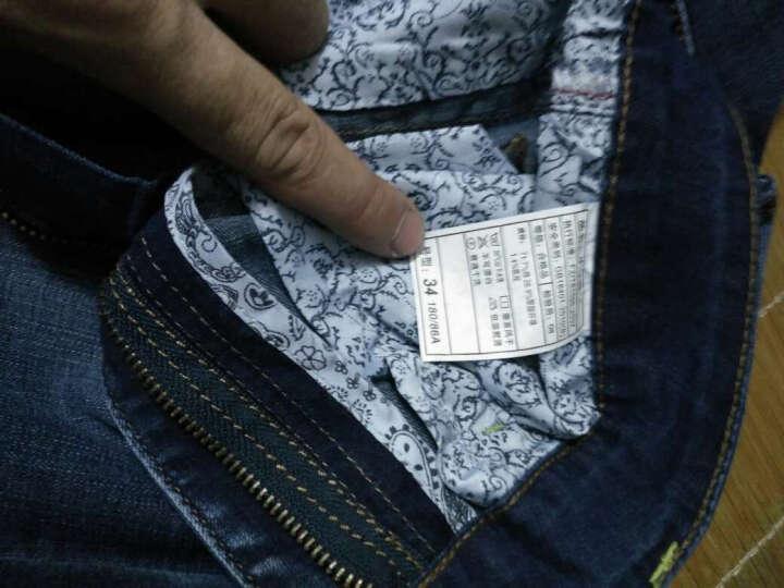 唐狮华菲 夏季薄款弹力牛仔短裤男士五分裤青年七分裤直筒马裤大码中裤潮 3014款深蓝 33(2尺6) 晒单图