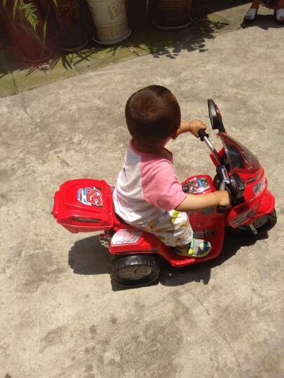 宝贝虎 儿童电动车三轮摩托宝宝玩具小孩电瓶童车适合1-4岁婴幼儿男女送礼 炫酷蓝色 晒单图