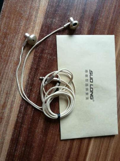 索龙  SL-101重低音耳机入耳式手机电脑适用于苹果华为小米线控音乐耳塞带耳麦女生 索龙SL-101耳机  太空灰 晒单图