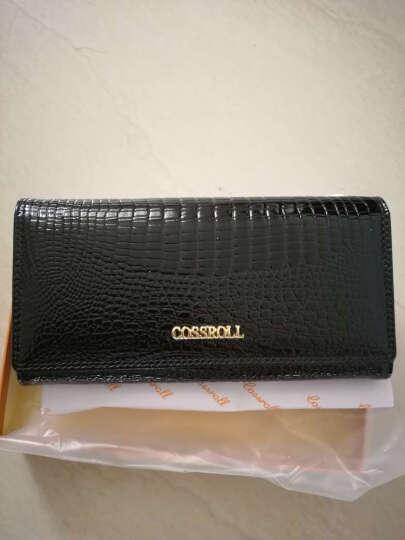 Cossroll新款女士钱包牛皮手拿包韩版时尚钱夹女包钱包女长款真皮 灰色 晒单图