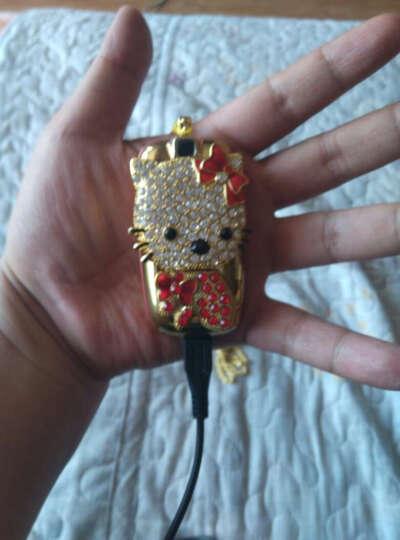 小迷你儿童手机 男女学生卡通手机 可爱凯蒂猫 招财猫 个性定位 袖珍直板小手机 红色  凯蒂猫 晒单图