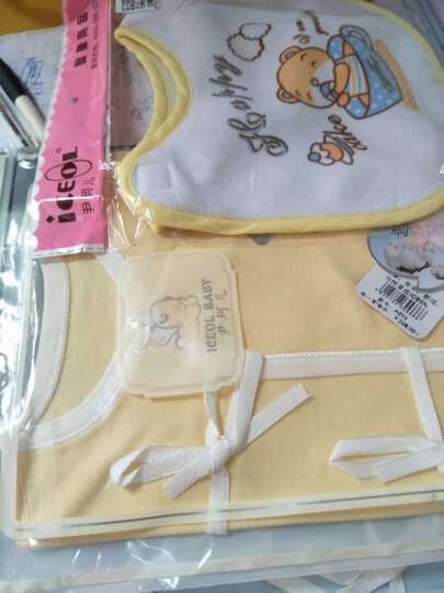 尹珂儿 初生婴儿内衣套装夏季新生儿衣服夏装纯棉睡衣系带和尚服0-3个月宝宝衣服春秋薄款 灰色印花小熊系带 52码(新生儿) 晒单图