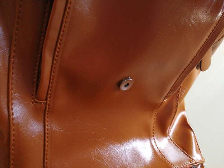 菲尔曼女生背包双肩包女韩版名族风旅行时尚休闲糖果色学院风学生多功能书包女 墨绿色 晒单图