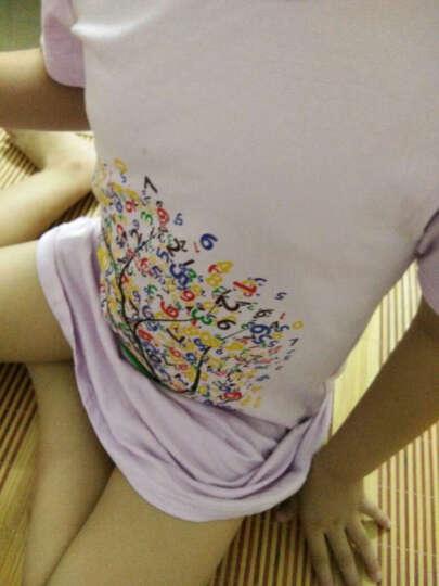 儿童睡衣女夏季短袖 女童睡裙莱卡纯棉 中大童空调服家居服薄款 宝宝女孩内衣T恤长款 紫色女孩 170(适合身高150cm-160cm) 晒单图
