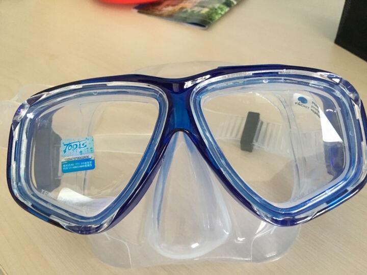 Topis 潜水装备 平光 可配近视 潜水镜 全干式呼吸管 浮潜三宝套装 浮浅用品 198深蓝小套装 晒单图