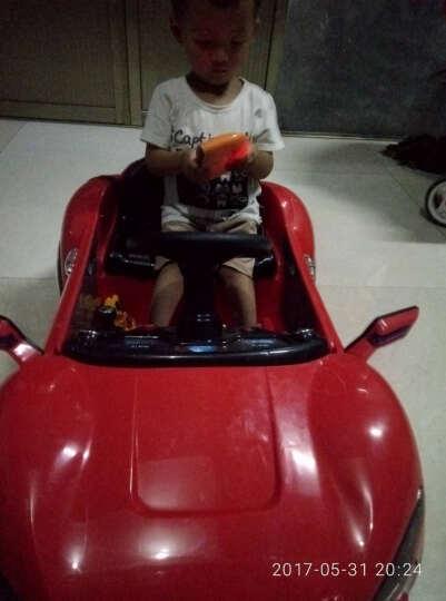 乐逗 儿童电动车 四轮童车可坐 宝宝玩具车可遥控小孩电动汽车可以吹泡泡的童车 黑色 带吹泡泡功能+后备箱+一键启动+2.4G遥控 晒单图